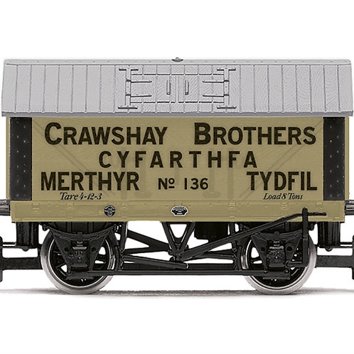 Hornby R6976 8 ton lime wagon Crawshay Brothers No. 136