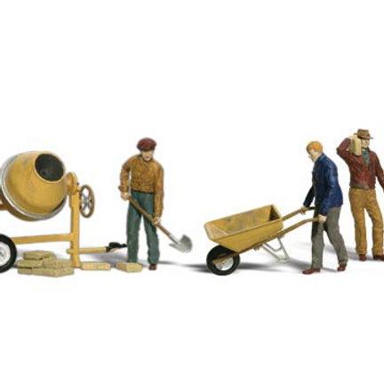 N Gauge Figures Masonry Workers