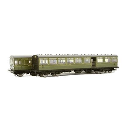 LSWR 'Gate Stock' 2-Coach Set SR Maunsell Green
