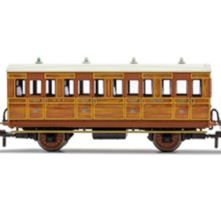 Hornby R40058 4 wheel 3rd 1636 in GNR lined teak - Era 2. Due Jan-21.