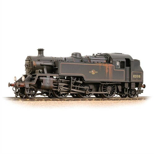 Bachmann  31-982 Standard Class 3MT 2-6-2T 82018 BR black late crest (weathered)