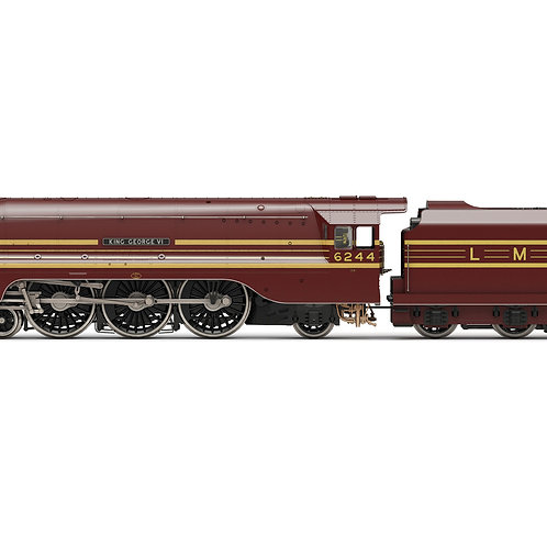 "Hornby R3639 Class 8P 'Streamlined Coronation' 6244 ""King George VI"" in LMS Red"