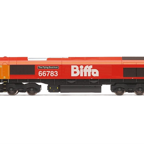 """Hornby R3779 Class 66/7 66783 """"The Flying Dustman"""" in Biffa red"""
