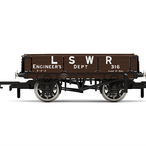 Hornby R6944 3-plank open wagon LSWR Engineers Dept 316 in LSWR brown