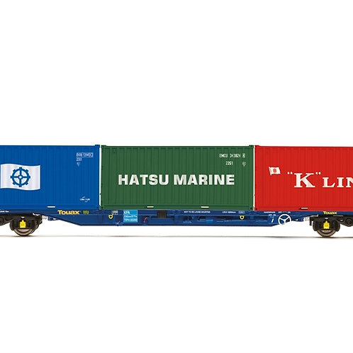Hornby R6958 KFA Intermodal wagon in Touax livery with containers