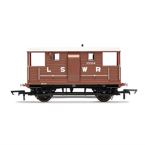 Hornby R6911B LSWR 20 ton brake van 10124 in LSWR bauxite with red ends