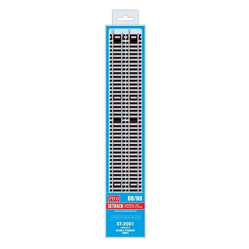 Peco ST-2001 Double Straight (Pack of 8)