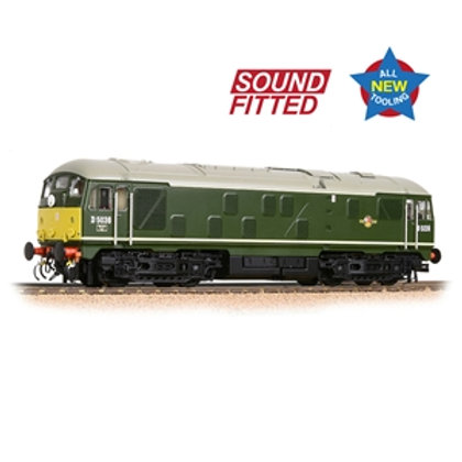 Class 24/0 D5036 Disc Headcode BR Green (Small Yellow Panels) Sound Fitted