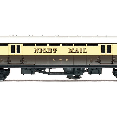 Hornby R4526 Night Mail Operating Mail Coach 849 in GWR chocolate & cream