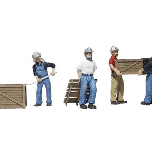 00 Gauge Figures Dock Workers