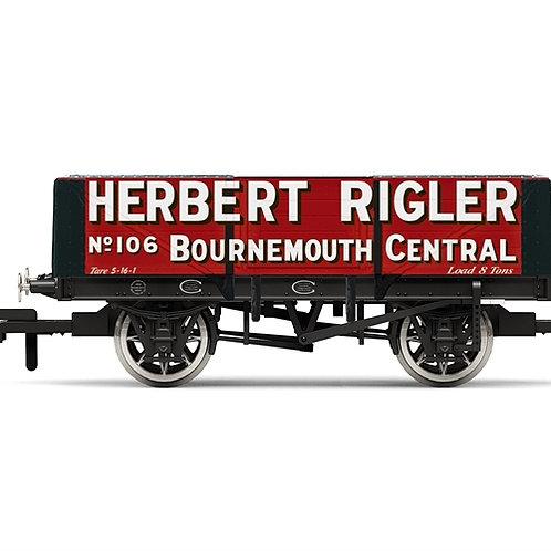 Hornby R6948 5-plank open wagon Herbert Rigler No. 106