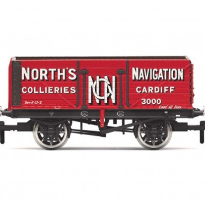 """Hornby R6904 7-plank open wagon """"North's Navigation, Cardiff"""""""