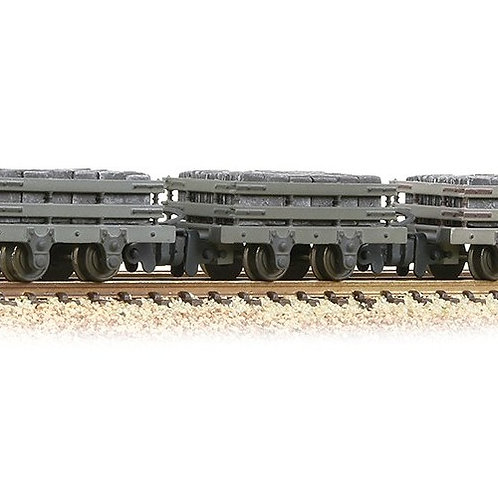Bachmann 393-075 Pack of three 4-wheel slate wagons in grey with load, weathered