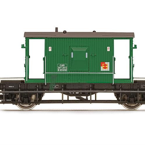 Hornby R6942 BR D1/507 20 ton brake van DB954812 in BR departmental olive green