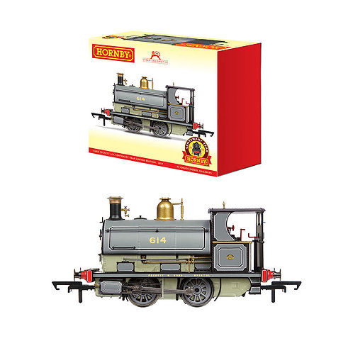 Hornby R3825 Class W4 Peckett 0-4-0ST 614 in grey - Centenary Year Limited Ed