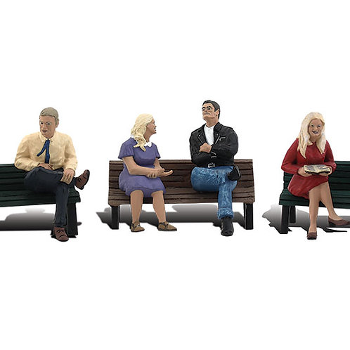 00 Gauge Figures People on Benches