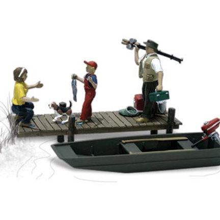 00 Gauge Figures Family Fishing