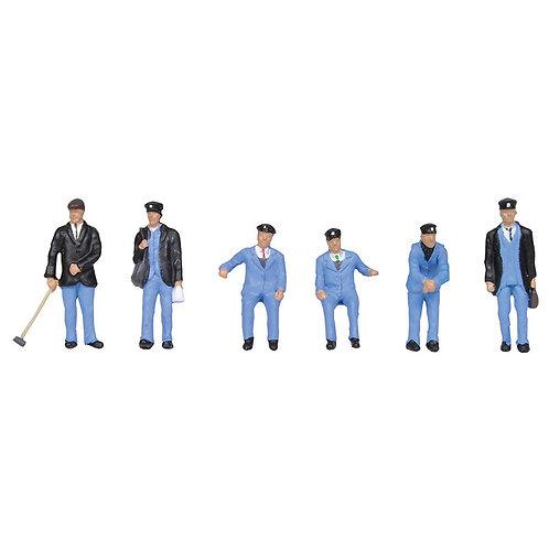 00 Gauge figures 1950's Train Crew