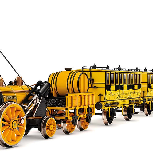 Hornby R3810 Stephenson's Rocket 0-2-2 train pack with 3 coaches