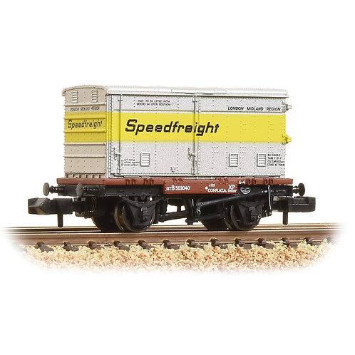 Bachmann 37-991 Conflat with BA standard vented container Speedfreight livery