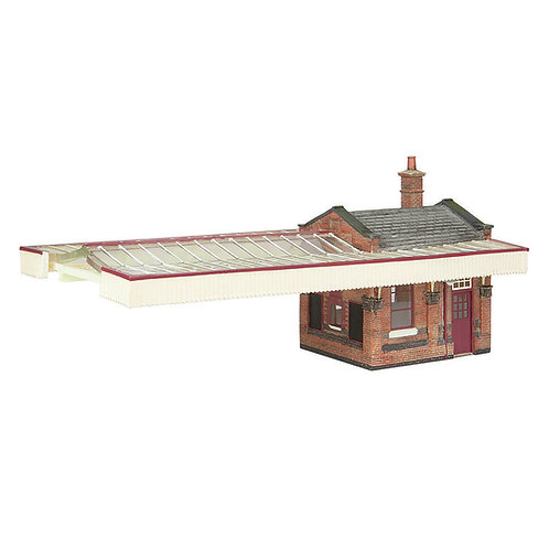 Bachmann 44-117C Great Central Booking Office with canopy Maroon and Cream