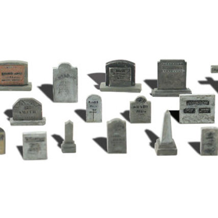 00 Gauge Tombstones