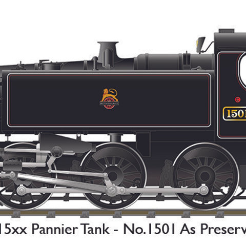 BR 15xx – No.1501 Lined Black Early Crest (As Preserved)