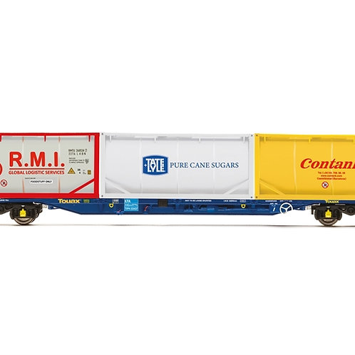 Hornby R6957 KFA Intermodal wagon in Touax livery with tanktainers