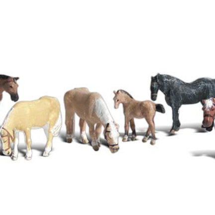 N Gauge Figures Farm Horses