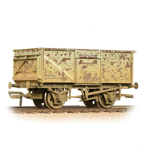 Bachmann 37-225J 16 ton steel mineral wagon in BR grey - heavily weathered