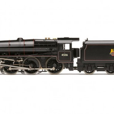 Hornby R3385TTS Class 5MT Black 5 4-6-0 45116 in BR black with TTS Sound