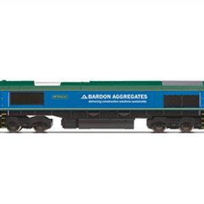 """Hornby R30024 Class 66/6 66623 """"Bill Bolsover"""" in Freightliner / Bardon Aggregga"""