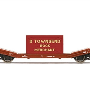 Hornby R60033 Lowmac wagon B904567 in BR bauxite - Due Jul-21