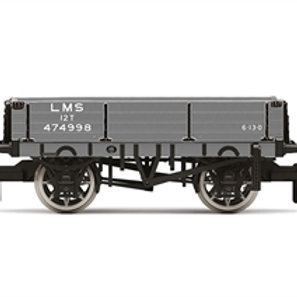 Hornby R60022 3-plank wagon 474998 in LMS grey - Due Jun-21