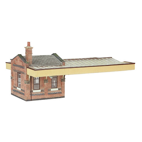 Bachmann 44-117B Great Central Booking Office with canopy Brown and Cream