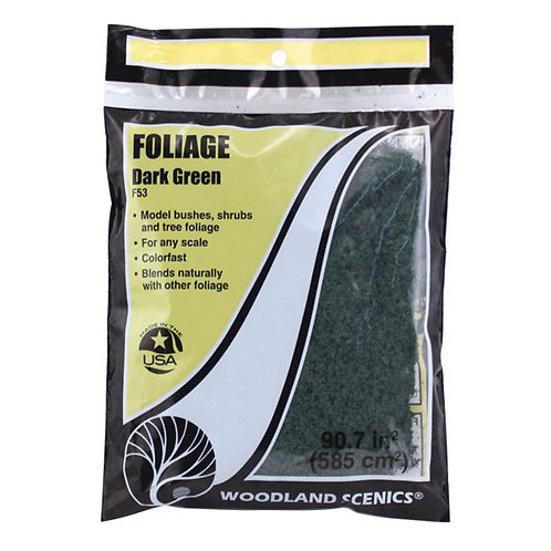 Woodland Scenics F53 Foliage Dark Green