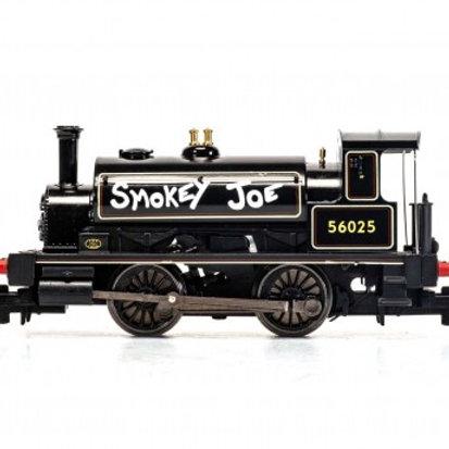 Hornby R3822 Class 0F Pug 0-4-0ST 56025 'Smokey Joe' in BR Black - Centenary