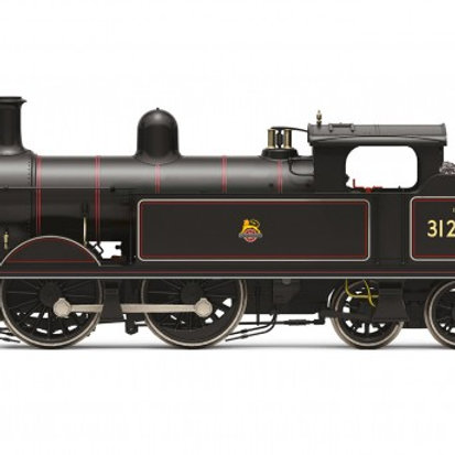Hornby R3631 SECR H Class 0-4-4T 31265 in BR black with early emblem