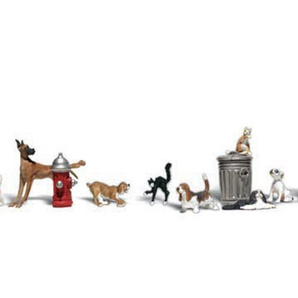 N Gauge Figures Dogs and Cats