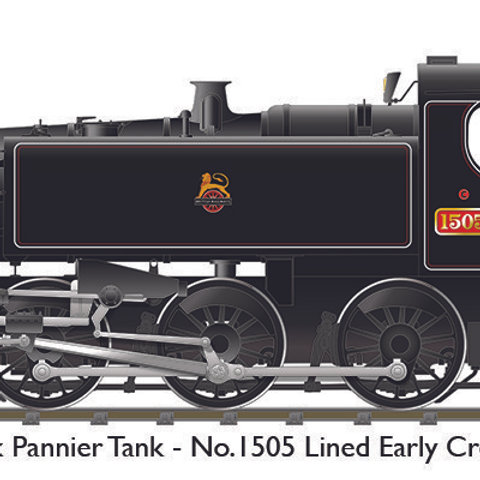 BR 15xx – No.1505 Lined Black Early Crest (Sound fitted)