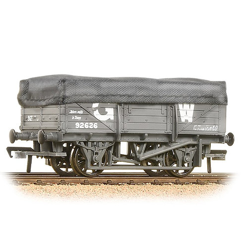 Bachmann 33-088 5-plank china clay wagon with hood in GWR grey - weathered