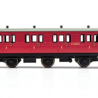 Hornby R40077 6 wheel 1st E41373E in BR crimson - Era 4. Due Jan-21