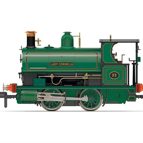 Hornby R3869 Class W4 Peckett 0-4-0ST 33 'Lady Cornelia' Dowlais Ironworks green