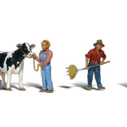 00 Gauge Figures Dairy Farmers
