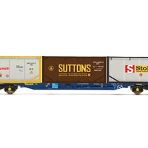 Hornby R60046 KFA Intermodal wagon in Touax livery with 3 tanktainers