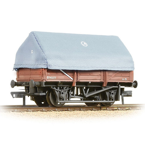 Bachmann 33-085A 5-plank china clay wagon with hood in BR bauxite - weathered