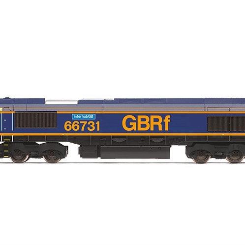 """Hornby R3785 Class 66 66731 """"Interhub GB"""" in GBRf livery"""