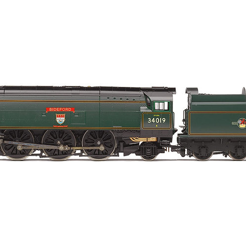 "Hornby R3638 Streamlined West Country 4-6-2 34019 ""Bideford"" BR green (late)"