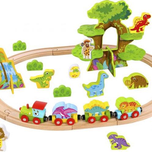 Wooden Small Dinosaur Train Set