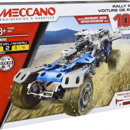 Meccano 10 in 1 Rally Racer Model Vehicle Building